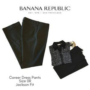 Banana Republic Black Jackson Fit Pants 0R
